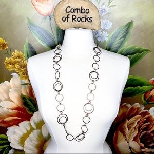 Daisy Fuentes Long Chunky Link Statement Necklace